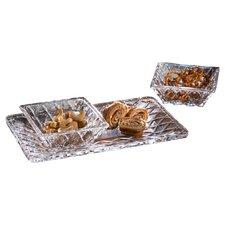 Muirfield 3 Piece Crystal Platter Set