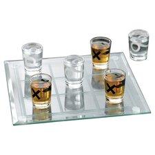 10 Piece Tic-Tac-Toe Shot Glass Set
