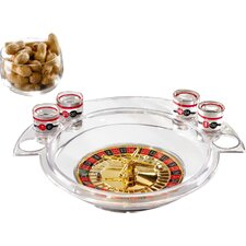 Game Night 9 Piece Roulette Shot Glass Set