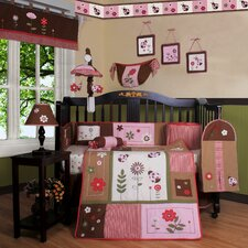 Boutique Ladybug Flower 12 Piece Crib Bedding Set