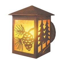 Twin Tree Peaked 1 Light Oudoor Wall Sconce