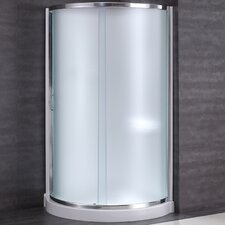 "Breeze 38"" x 38"" x 76"" Neo - Angle Frosted Glass Kit with Walls"