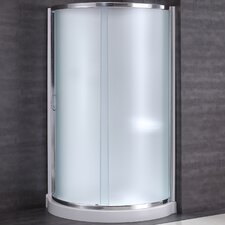 "Breeze 34"" x 34"" x 76"" Neo - Angle Frosted Glass Kit with Walls"