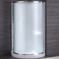 "Breeze 31"" x 31"" x 76"" Neo - Angle Frosted Glass Kit with Walls"