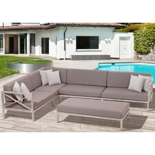 Pasadena 3 Piece Sectional Seating Group with Cushion