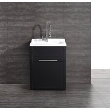 "Yani 22"" x 28"" Single Utility Sink with Faucet"