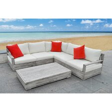 3 Piece Sectional Seating Group with Cushions