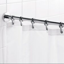 "Round 98"" Max Shower Rod with Curtain Hooks"