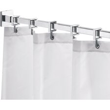 """Square 98"""" Max Shower Rod with Curtain Hooks"""