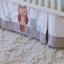 Baby Owls Crib Bed Skirt