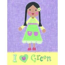 Green Girl - Starla Canvas Art