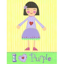 Purple Girl Violet Canvas Art