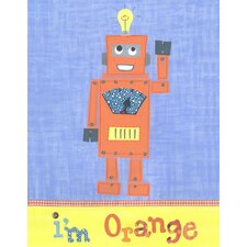I'm Orange Robot Canvas Art