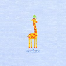 Alphabet Adventure Sunshine Giraffe Canvas Art