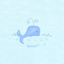 Alphabet Adventure Sprout Whale Canvas Art