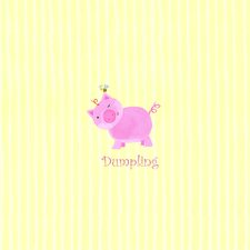 Alphabet Adventure Dumpling Piggy Canvas Art