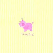 Alphabet Adventure Dumpling Piggy Canvas Art
