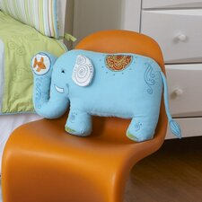 Funny Friends Elephant Cotton Throw Pillow