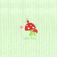 Alphabet Adventure Love Bug Mushroom Canvas Art