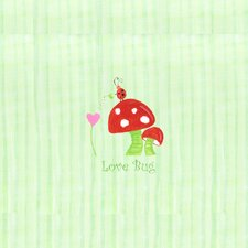 Alphabet Adventure Love Bug Mushroom Canvas Art