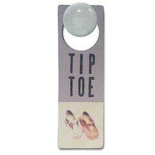 """""""Tiptoe"""" Door Hanger"""