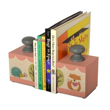 Fox and Hedgehog Book Ends (Set of 2)
