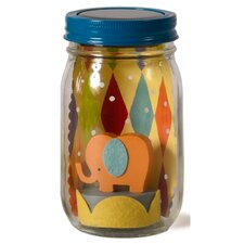 Elephant Mason Jar Solar Night Light