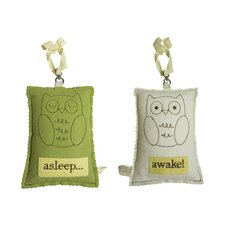 Owl Asleep / Awake Door Hanger
