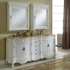 """Villa 72"""" Double Vanity Set with Medicine Cabinet"""