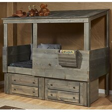 Driftwood Hideout Twin Loft with Under Bed Storage