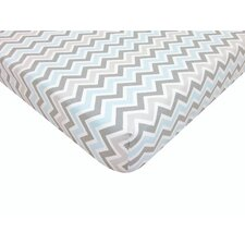 Percale 100% Cotton Fitted Crib Sheet