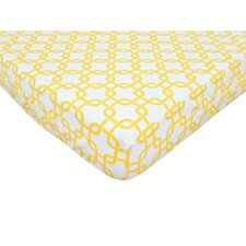 Percale 100% Cotton Gotcha Fitted Crib Sheet
