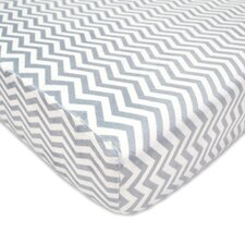 Heavenly Soft Chenille Gray Zigzag Fitted Crib Sheet