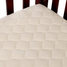 Organic Quilted Portable Fitted Crib Mattress Pad
