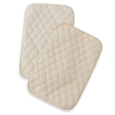 Waterproof Quilted Lap and Burp Pad Covers Two Pack Set