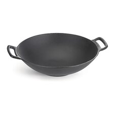 "14"" Non-Stick Cast Iron Wok"