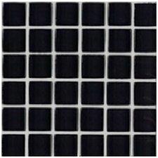 "Shimmer Blends 2"" x 2"" Ceramic Mosaic Tile in Midnight"