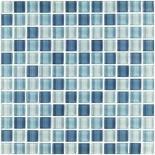 "Shimmer Blends 1"" x 1"" Ceramic Mosaic Tile in Arctic"