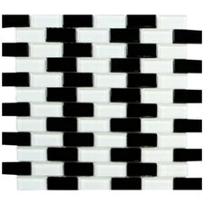 Shimmer Blends Ceramic Mosaic Tile in Checkerboard