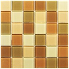 "Shimmer Blends 2"" x 2"" Ceramic Mosaic Tile in Coral"