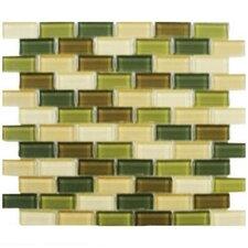 Shimmer Blends Ceramic Mosaic Tile in Foliage