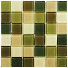 """Shimmer Blends 2"""" x 2"""" Ceramic Mosaic Tile in Foliage"""