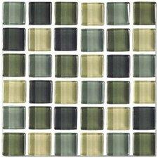 "Shimmer Blends 2"" x 2"" Ceramic Tile Mosaic in Ocean"