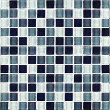 """Shimmer Blends 1"""" x 1"""" Ceramic Mosaic Tile in Shadow"""