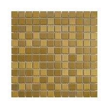 "Shimmer 1"" x 1"" Ceramic Mosaic Tile in Gold"