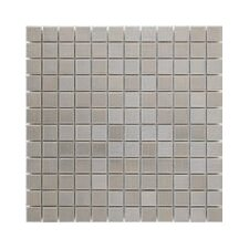 """Shimmer 1"""" x 1"""" Ceramic Mosaic Tile in Silver"""