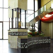 "Shimmer 1"" x 1"" Ceramic Mosaic Tile in Midnight"