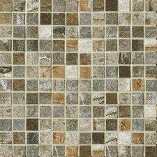 """Vesale Stone 1"""" x 1"""" Porcelain Mosaic Tile in Moss"""
