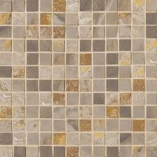 "Jade 1"" x 1"" Porcelain Mosaic Tile in Taupe"