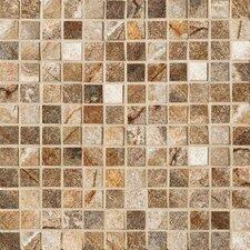 """Vesale Stone 1"""" x 1"""" Porcelain Mosaic Tile in Rust"""